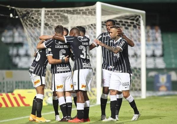 10º colocado – Corinthians (45 pontos/32 jogos): 0.0% de chances de ser campeão; 6.7% de chances de Libertadores (G6); 0% de chances de rebaixamento.