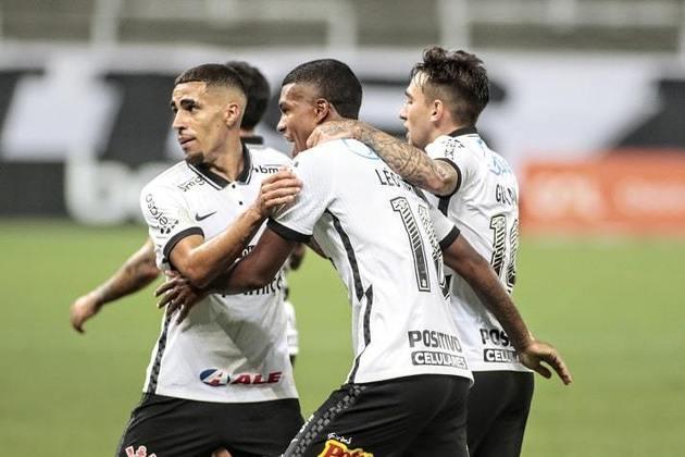 10º - Corinthians: 19 pontos - cinco vitórias - quatro empates - sete derrotas - 15 gols feitos - 19 gols sofridos.