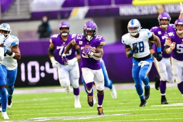 10° Dalvin Cook - RB carrega nas costas o ataque dos Vikings. Quando ele produz, Minnesota tem chance de vitória.