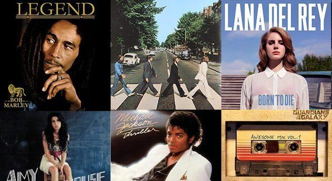 Os 10 discos de vinil mais vendidos da década nos EUA