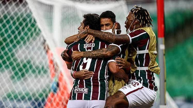 10º - Fluminense: 8 vitórias, 2 empates e 3 derrotas em 13 jogos / 66,6% de aproveitamento