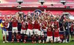 10º lugar: Arsenal (Inglaterra/nível 4) - 206 pontos