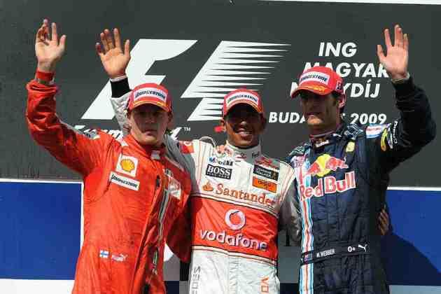 10 - O ano de 2009 não foi fácil para Hamilton, mas o britânico garantiu uma conquista no GP da Hungria, uma das pistas favoritas