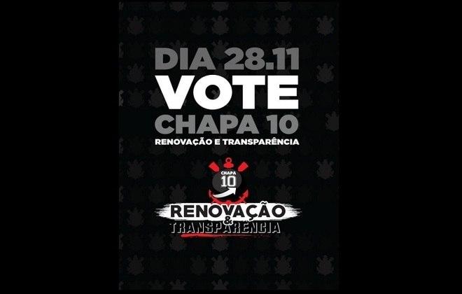 10 - Renovação & Transparência - Apoia a candidatura de Duílio Monteiro Alves. A principal promessa é