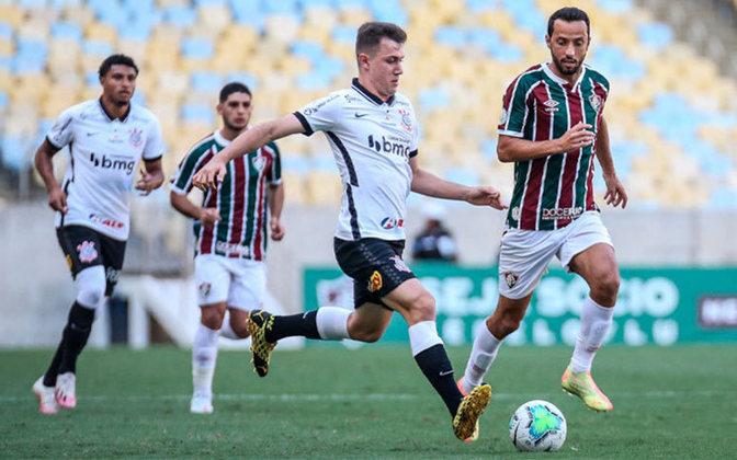 10ª rodada - Fluminense 2 x 1 Corinthians: Cássio; Michel Macedo, Bruno Méndez, Gil e Lucas Piton; Gabriel, Cantillo e Éderson; Otero, Gustavo Silva e Jô.