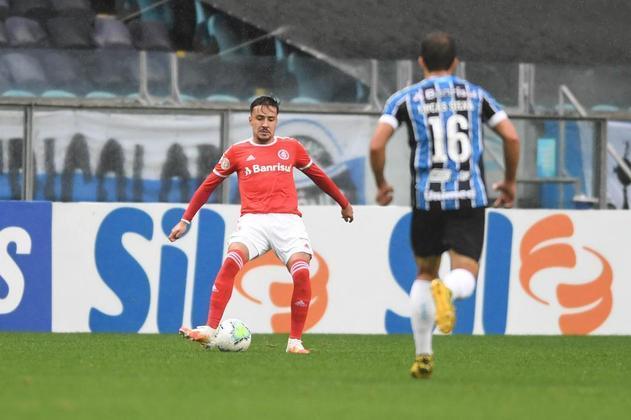 10º - Também em décimo e com cinco pontos está Heitor (20 anos), do Internacional. São seis jogos, com três assistências.