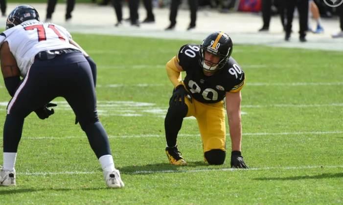 10º TJ Watt (Steelers): Único jogador defensivo da lista, Watt é o terror de quarterbacks e da OL rival, já tem 3.5 sacks no ano