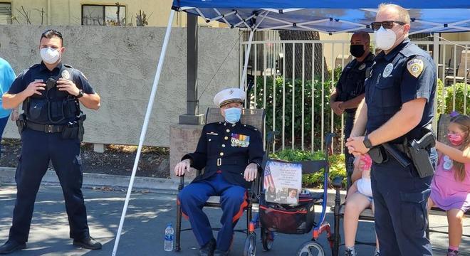 Major chegou aos 105 anos de idade e teve celebração especial