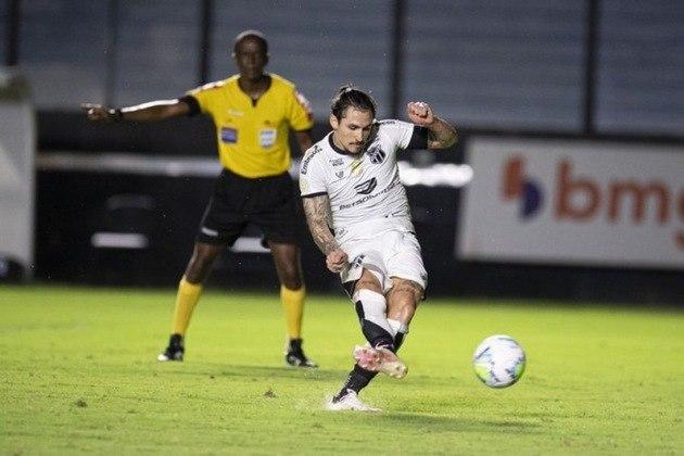 11º colocado – Ceará (29 pontos) – 23 jogos / 0,036% de chances de título; 6.2% para vaga na Libertadores (G6); 7,8% de chance de rebaixamento.