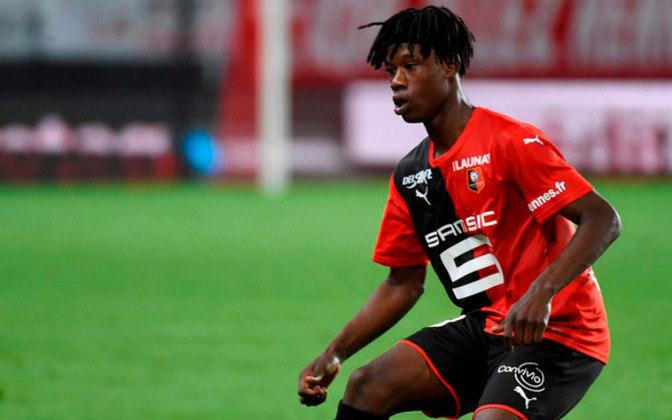 11- Eduardo Camavinga: O jogador do Rennes tem um valor de 61,5 milhões de euros (R$ 408,9 milhões) e ocupa a 11ª posição entre os selecionados.