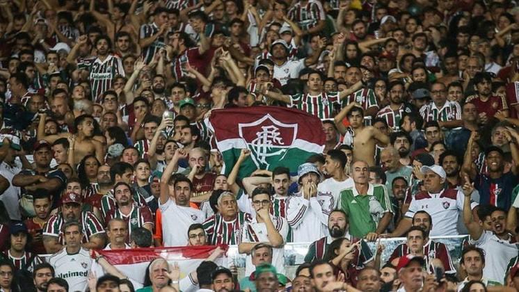 11- Fluminense - LANCE!/Ibope 2014: 3,6 milhões de torcedores / Datafolha 2019: 1,9 milhão