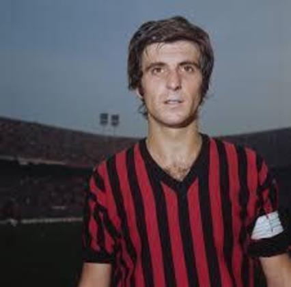 11º - Gianni Rivera - 525 jogos - Clubes que defendeu na Itália: Alessandria e Milan