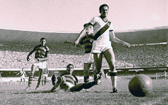 11º - Ipojucan - 28 gols - Sexto maior artilheiro da história do Vasco, Ipojucan foi um dos grandes nomes do Expresso da Vitória multicampeão nas décadas de 40 e 50.