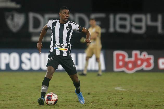 11º - Kanu - Time: Botafogo - Posição: Zagueiro - Idade: 24 anos - Valor segundo o Transfermarkt: 1,5 milhão de euros (aproximadamente R$ 9,27 milhões)