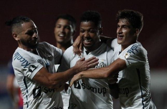 11º lugar - Santos: Valor total do elenco segundo o site Transfermarkt: 47,28 milhões de euros (aproximadamente R$ 306,26 milhões)