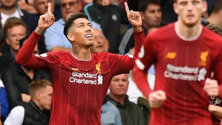 11º - Roberto Firmino - Liverpool - Inglaterra - 10 gols na temporada - 8 gols na Premier League, 1 gol no Mundial de Clubes e 1 gol na Champions League