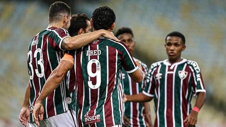 11/04/2021 - O aproveitamento seguiu ótimo e o camisa 9 fez o segundo gol do Flu na vitória por 3 a 1 sobre o Nova Iguaçu, também no Carioca.