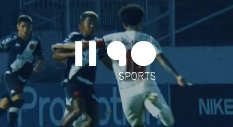 O logo da 1190 Sports em um jogo do Vasco da Gama