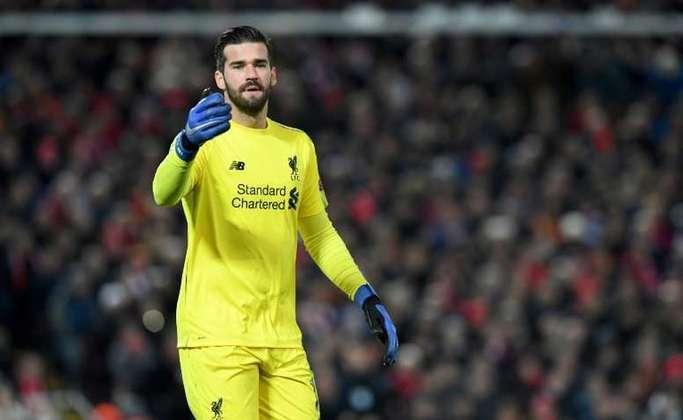 12º ALISSON - goleiro do Liverpool. Valor de mercado: € 80 milhões (R$ 512 milhões)