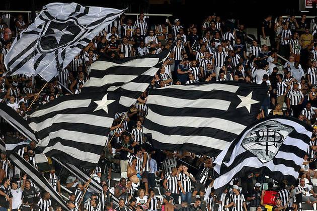 12- Botafogo - LANCE!/Ibope 2014: 3,4 milhões de torcedores / Datafolha 2019: 1,8 milhão.
