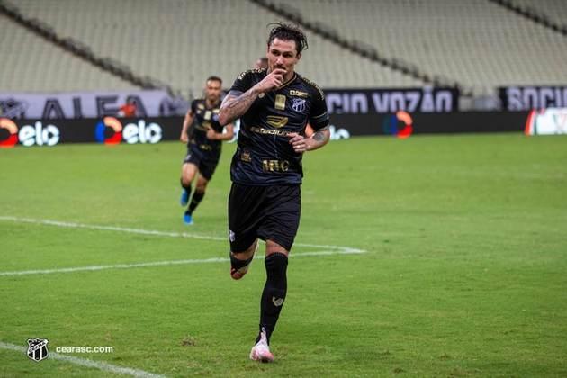 12º - Ceará: 7 vitórias, 5 empates e 1 derrota em 13 jogos / 66,6 % de aproveitamento