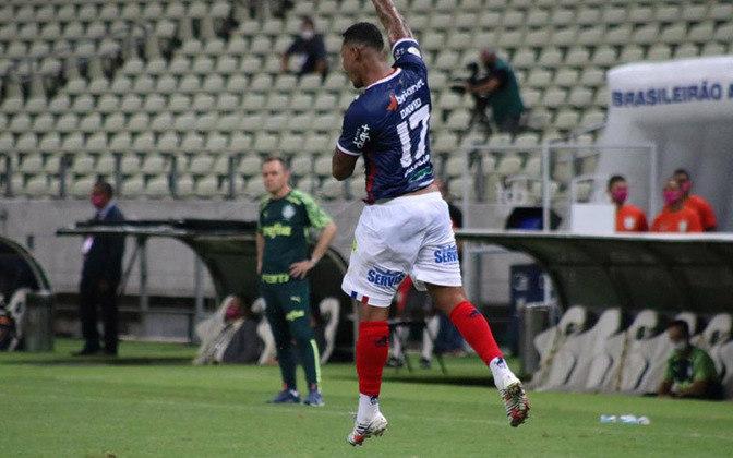 12º colocado – Fortaleza (24 pontos) – 0.056% de chance de título; 4.9% para vaga na Libertadores (G6); 20.1% de chances de rebaixamento. (Com um jogo a menos no Brasileirão)