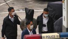 Militantes que tentaram fugir pelo mar são devolvidos à Hong Kong
