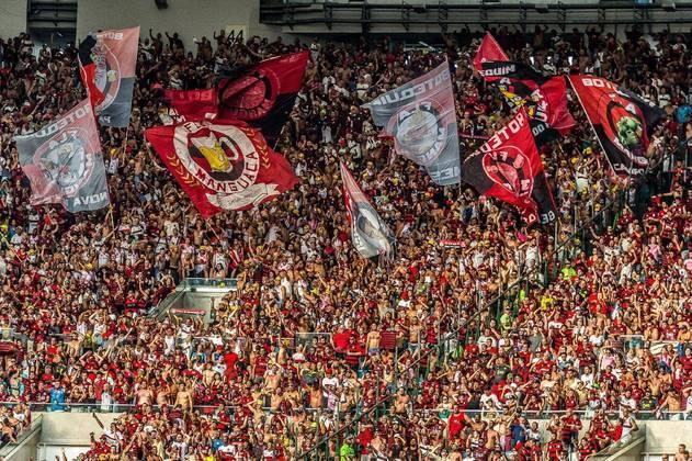 12º Flamengo - R$ 25,01 milhões /Variação de -52% da dívida de 2018 para 2019 - R$ - 27,61 milhões