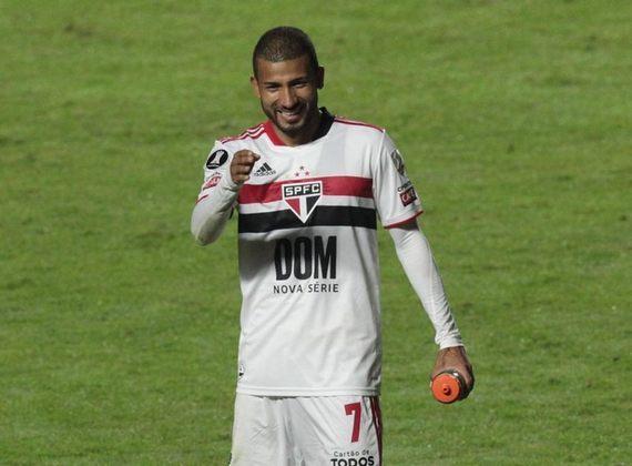 12º - Joao Rojas - Posição: Atacante - Clube: São Paulo - Idade: 32 anos - Valor de mercado segundo o Transfermarkt: 1,4 milhão de euros (aproximadamente R$ 8,67 milhões) - Contrato até: 31/12/2021