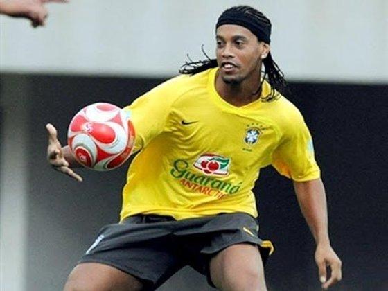 12º lugar: Ronaldinho Gaúcho - 101 partidas pela Seleção Brasileira