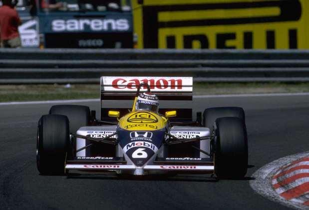 12 - Nelson Piquet, 24 poles, a última delas com o Williams FW11B no GP da Espanha de 1987