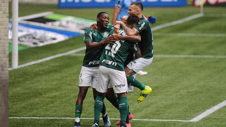 12º - Palmeiras - duas vitórias e dois empates - 8 pontos - 66,6% aproveitamento