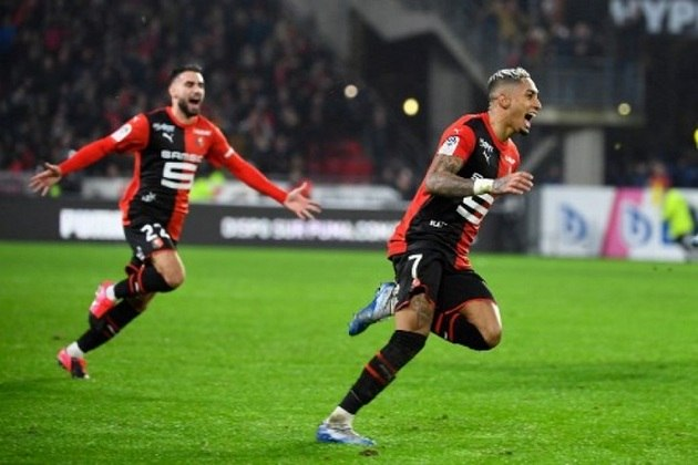 12) Raphinha - Rennes-FRA - 30 jogos - 7 gols