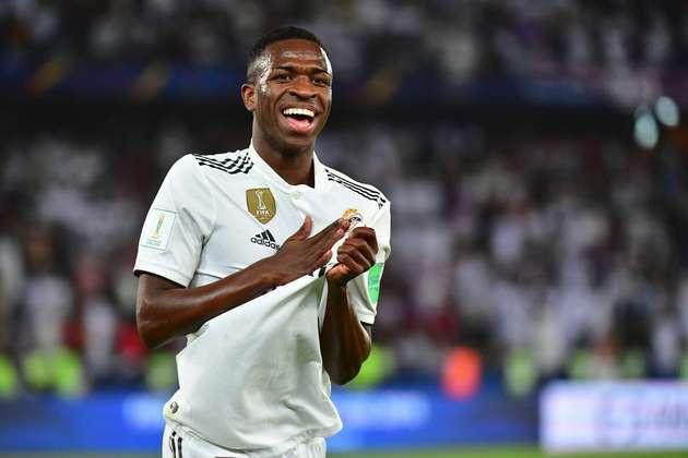 12- Vinicius Júnior: O segundo brasileiro da lista também é do Real Madrid e está na 12ª colocação, com um valor estipulado em 58,5 milhões de euros (R$ 389 milhões).