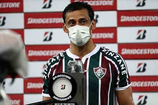 12/05/2021 - No segundo confronto com o Santa Fe na fase de grupos, Fred empatou o jogo logo depois de os colombianos abrirem o placar no Maracanã. No fim, o Fluminense venceu de virada por 2 a 1.