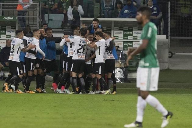 12/7/2017 - Palmeiras 0 x 2 Corinthians - Allianz Parque - 13ª Rodada Brasileirão-2017: Mais uma vez contra um amplo favorito Verdão, o Timão mostrou que o que valia era bola na rede na casa do rival. Vitória com gols de Jadson e Guilherme Arana.