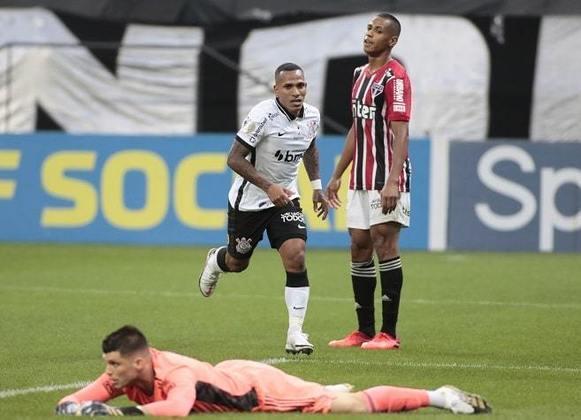 13º) 13/12/2020 - Corinthians 1 x 0 São Paulo - 25ª rodada do Brasileirão. Gol: Otero (COR)