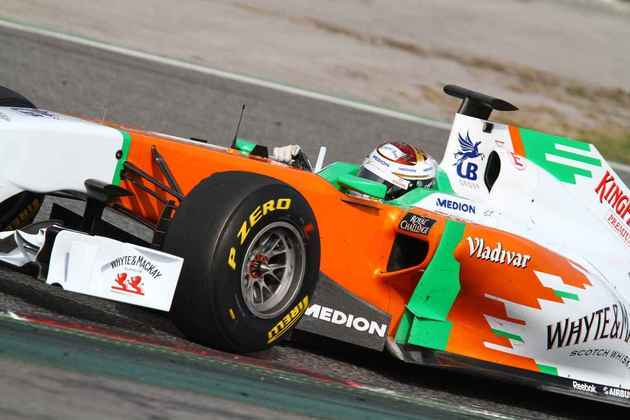13º) Adrian Sutil ficou ali no meio do pelotão e terminou sem pontos. Alemão ainda durou mais alguns anos na F1