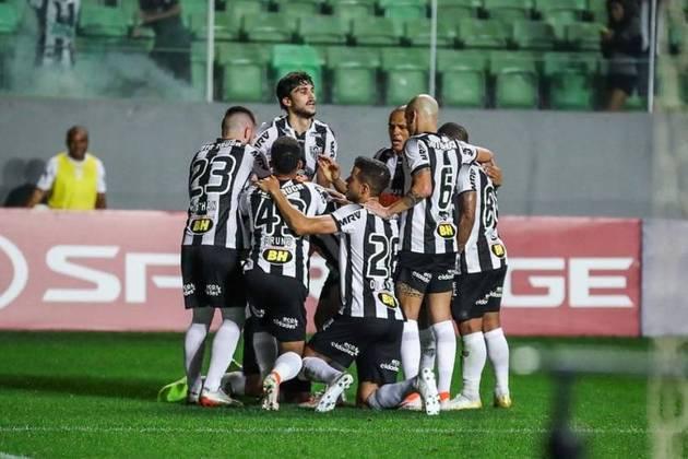 13º - Atlético-MG - 58,9% de aproveitamento - 13 jogos: 6 vitórias, 5 empates e 2 derrotas