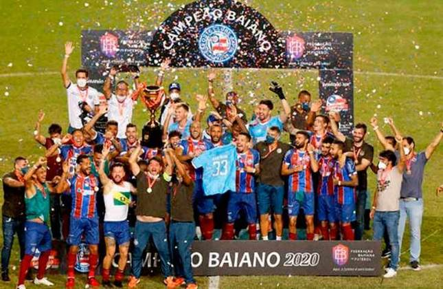 13° - Bahia (2,68 milhões de torcedores) - Oito títulos: Duas Copas do Nordeste (2017 e 2021) e seis estaduais (2012, 2014, 2015, 2018, 2019 e 2020).