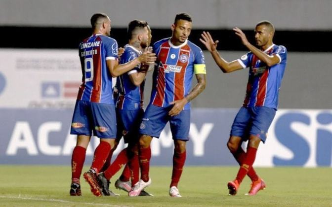 13º colocado – Bahia (28 pontos) – 24 jogos / 0.003% de chances de título; 2% para vaga na Libertadores (G6); 17.5% de chance de rebaixamento.