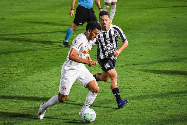 13º colocado – Bragantino (31 pontos/26 jogos): 0,0% de chances de ser campeão; 0,90% de chances de Libertadores (G6); 13% de chance de rebaixamento.
