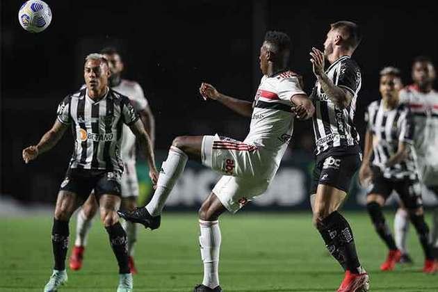 13° colocado - SÃO PAULO (27 pontos) - 22 jogos - Título: 0,019% - G6: 10,6% - Rebaixamento: 10%