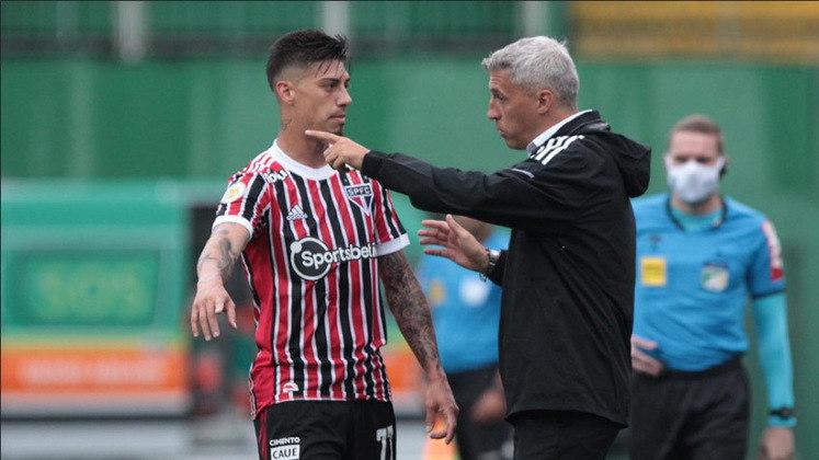 13° colocado - SÃO PAULO (28 pontos) - 23 jogos - Título: 0,003% - G6: 8,8% - Rebaixamento: 11,8%.