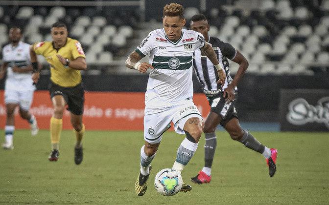 13º - Coritiba - 45,1% de aproveitamento - 17 jogos - 7 vitórias - 2 empates - 8 derrotas