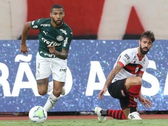13º - Em seguida, com dois pontos, o atacante Wesley (21 anos), do Palmeiras. Ele somou 13 partidas, tendo iniciado em oito delas, com dois gols marcados e duas assistências.