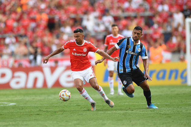 13) Internacional 0 x 1 Grêmio - Data: 15/2/2020 - Local: Beira-Rio - Público pagante: 33.353 - Campeonato Gaúcho