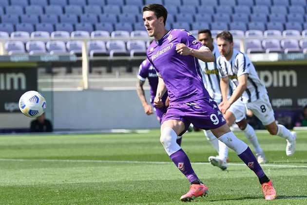 13º lugar: Dusan Vlahovic (Fiorentina) - 21 gols/ 42 pontos