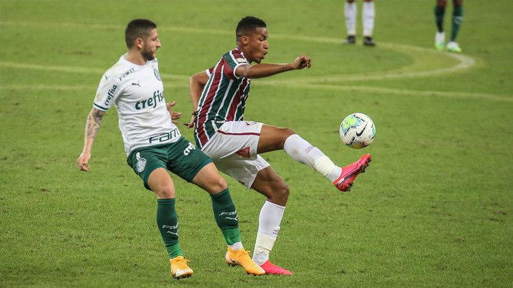 13º lugar: Marcos Paulo - Atacante - Fluminense - 23 anos - Valor de mercado segundo o site Transfermarkt: 9 milhões de euros (aproximadamente R$ 57,92 milhões)