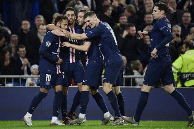 13º: Paris Saint-Germain - 194 pontos - 105 jogos